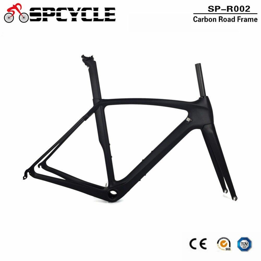 Spcycle Carbon Road Frame Aero Carbon Road Bike Frame DI2 & Machinery Racing Bicycle Carbon Frameset BB386 Size 50/53/55/57cm