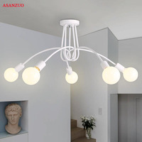 Modern Ceiling Lights Simple American restaurant Nordic living room bedroom Lighting fixtures