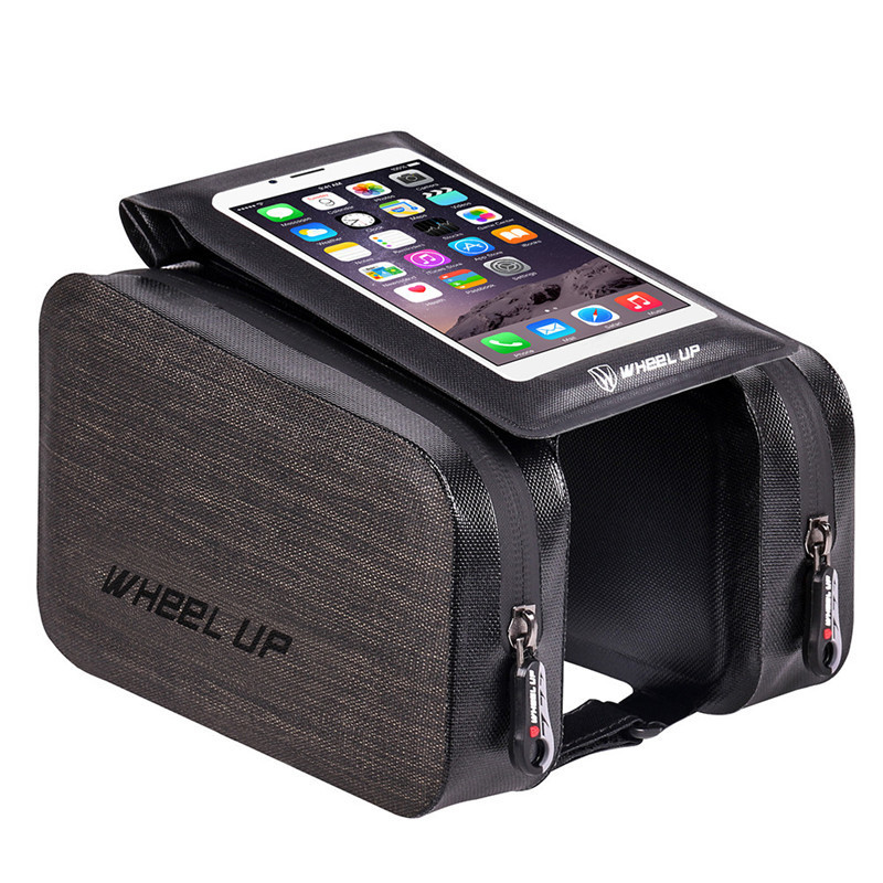 Cycling Bicycle Bag Outdoor Sports Portable Waterproof Bike Front Bag Mountain Bike Touch Screen Front Riding Saddle Bag