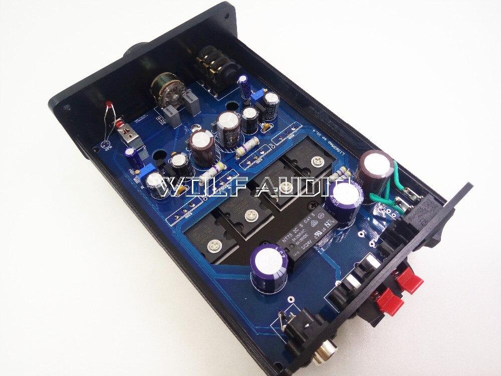 Pure Class A Desktop 2SC5200 Power Amplifier HiFi Headphone Amp 8W*2 Based on 1969 Circuit