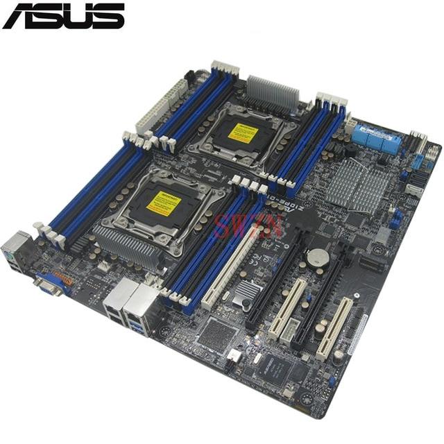 Usado original Servidor motherboard Para ASUS Z10PE-D16 C612 CABIDE Suporte 2011 E5-2600 V3 DDR4 Máximo 64 GB 16 * DDR4 10 * SATAIII 1 * M2 ATX
