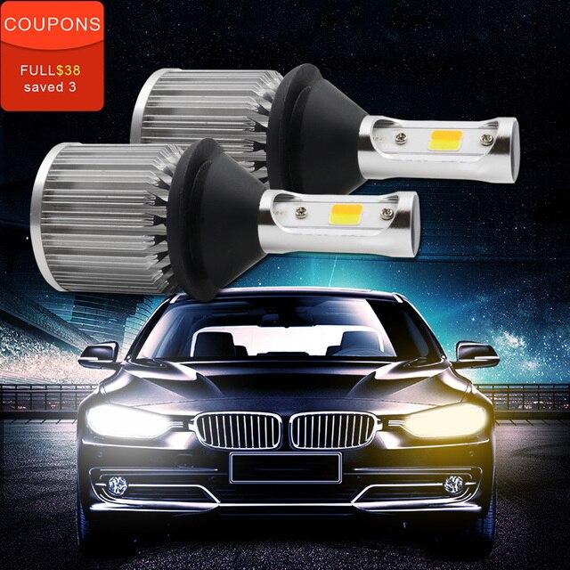 Tcart 2pcs Car LED DRL Daytime Running Lights Turn Signals T20 WY21W COB For Mitsubishi Outlander XL 2007-2010
