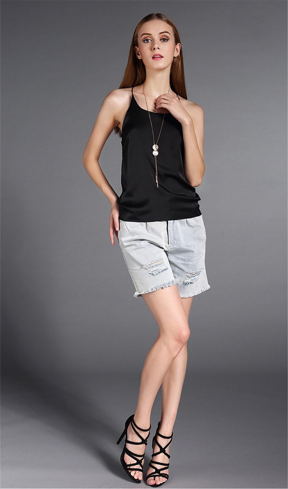 Plus Size S-4XL Multiple Women Tank Tops Brand Silk Blending Sleeveless Tshirt Women Female Shirt Smooth Blouse Blusas Femininas (9)
