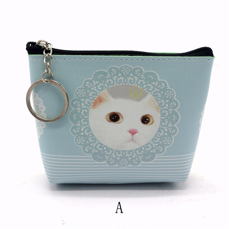 2018 new fashion women Leather wallet cat cartoon coin case women cartoon animal wallet cats women wallets female cards holder fashion colorful cartoon animal printed square new composite linen blend pillow case