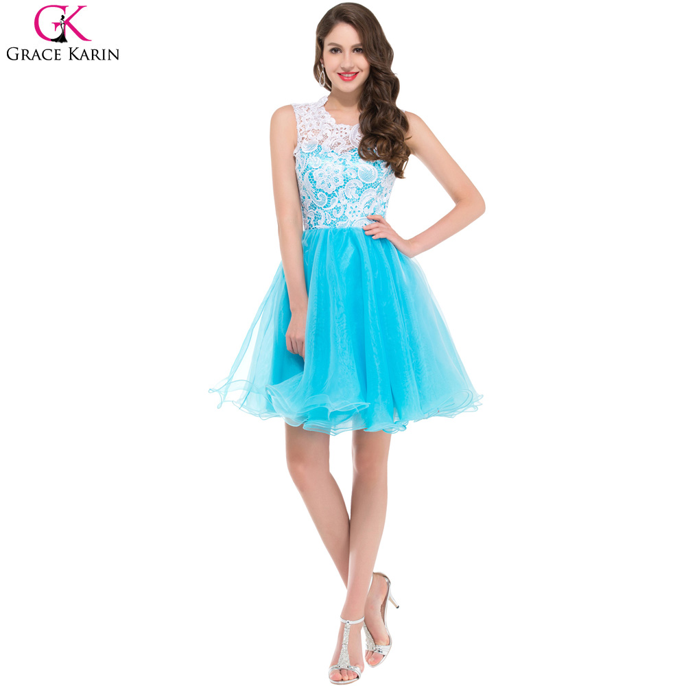 Grace Karin Prom Dresses Sleeveless Tulle Lace Sleeveless Lace ...