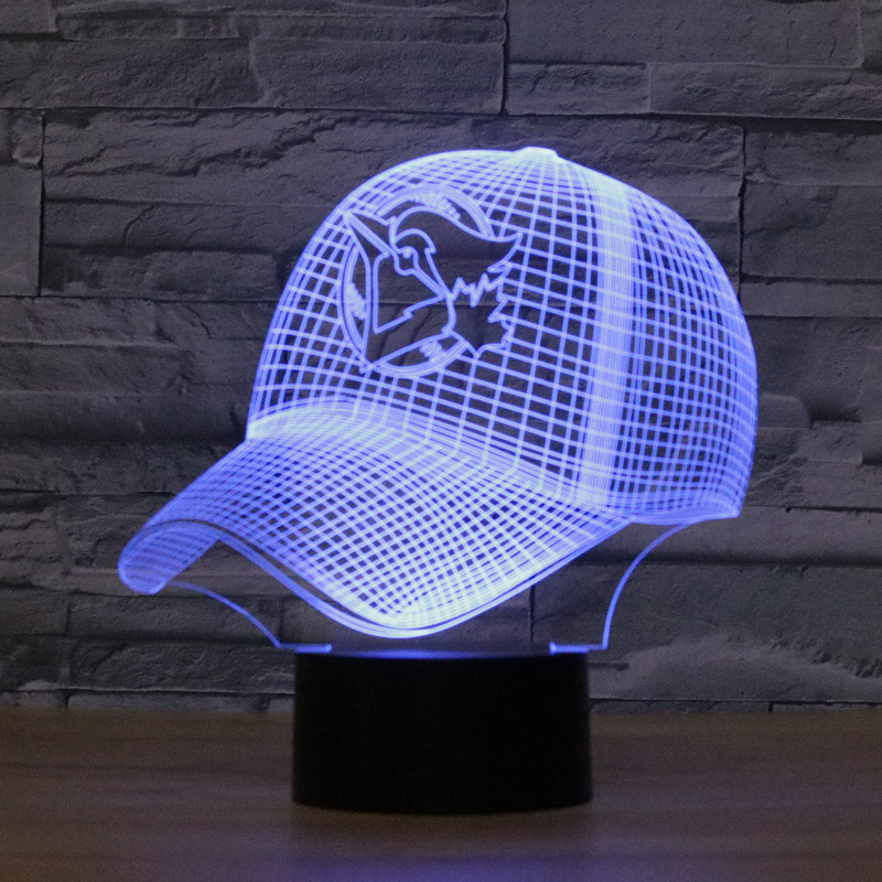 ed093121343 3D LED Sport Shape Illusion USB Table Light Touch 7 Colors Toronto Blue Jays  Lampara Desk Lamp For Children Kids Nightlight