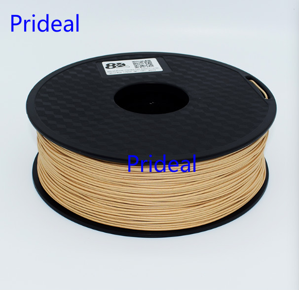 Prideal Upgrade brand new 1kg 3D Printer light Wood Filament 3.0 MM Filament 1kg PLA PA PVA HIPS for MakerBot Flash Forge