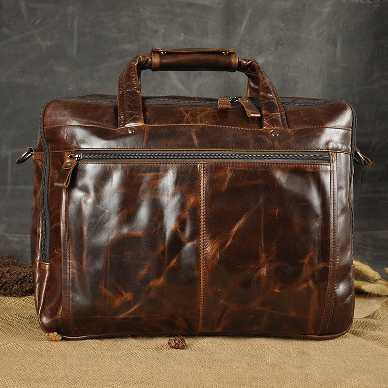 HTB1GQyka5LrK1Rjy1zdq6ynnpXah Men Oil Waxy Leather Antique Design Business Briefcase Laptop Document Case Fashion Attache Messenger Bag Tote Portfolio 7146