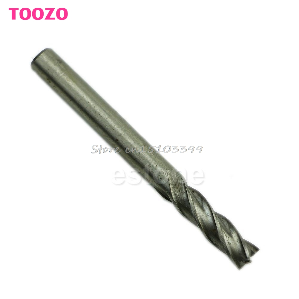 New HSS CNC Straight Shank 4 Flute End Mill Cutter Drill Bit Tool 6mm #G205M# Best Quality free shipping 400r 25 c25 300 end mill cutter end mill apmt1604 inserts cnc mill cutter cnc tool cnc tool mk new handbags