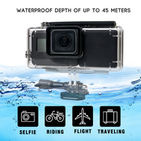 For Gopro Hero 5 Waterproof Case Protective Housing Frame 2300 MAh Battery Inside Power Bank For