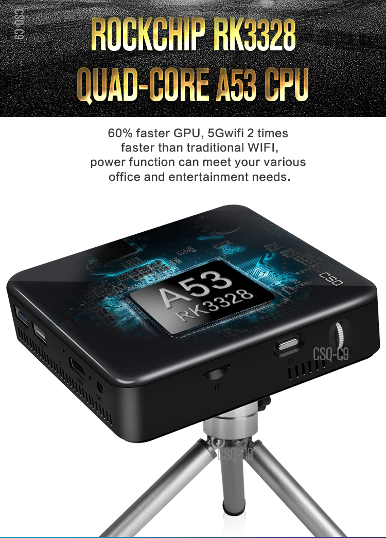 pocket cinema C9 DLP Android 7.1 RK3328 Mini Pocket Projector 4K Android 2G/16G 2.4G/5G WiFi Bluetooth 4.0 PK C6 H96-P projector home cinema entertainment hd pocket projectors android smart mobile wifi projector mini office
