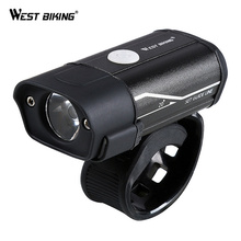 WEST BIKING Bike Front Light USB Rechargeable Bicycle Headlight Waterproof 5 Modes Cycling Safety Flash light Lamps