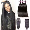 peerless virgin hair with closure 7a 3 bundle brazilian straight hair bundles with lace closure mink brazilian hair with closure
