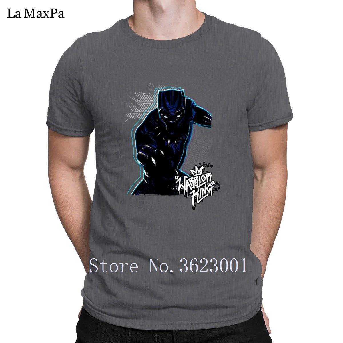 Knitted Cool T-Shirt For Men Geometric Warrior King Tee Shirt Man Original Tshirt Natural Men T Shirt Size S-3xl Fitness