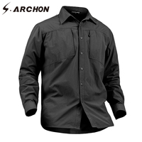S ARCHON Spring Urban Military Combat Shirts Men Summer Quick Dry Breathable Tactical Shirt Male Casual
