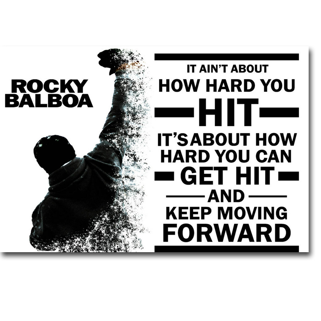 Us 491 18 Offrocky Balboa Motivational Quote Art Silk Poster Print Inspirational Movie Sylvester Stallone Picture For Room Wall Decor 016 In
