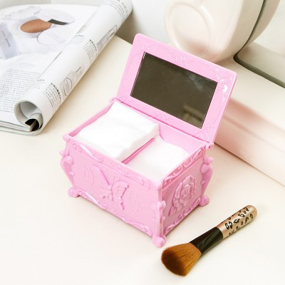 Gratis frakt BF050 Fashion dubbelskikt med spegel make up box kosmetisk förvaringslåda 12,2 * 7,8 * 8,3 cm