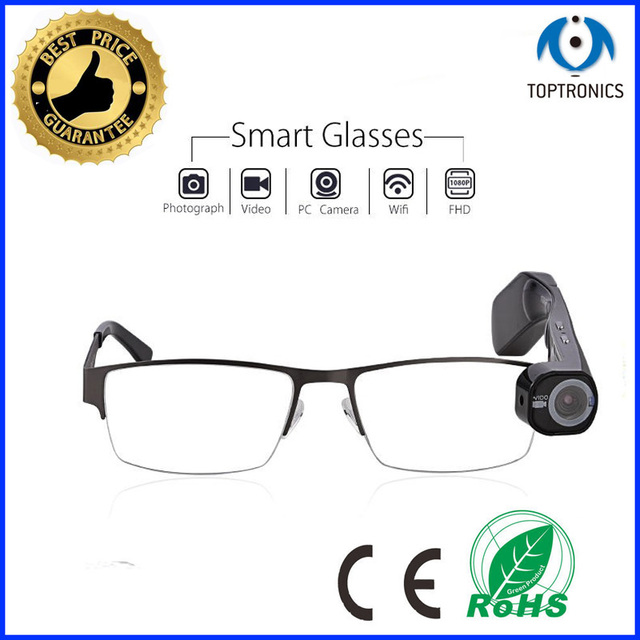 Special Birthday Gift For Driver Police Journalis Friends Smart Glasses Suppot App 1080P Video