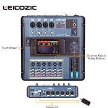 Leicozic MD200 мини-цифровой микшер, соединяющий с ПК по wifi или USB цифровой микшерный пульт, сенсорный экран для диапазонов, концертов, вечеринок