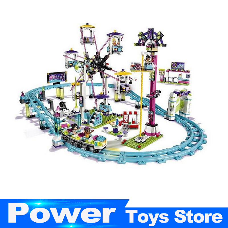 Lepin 01008 Model building kits compatible with legoed city girls friend Amusement Park  blocks Educational model building toys lepin 22001 pirate ship imperial warships model building block briks toys gift 1717pcs compatible legoed 10210