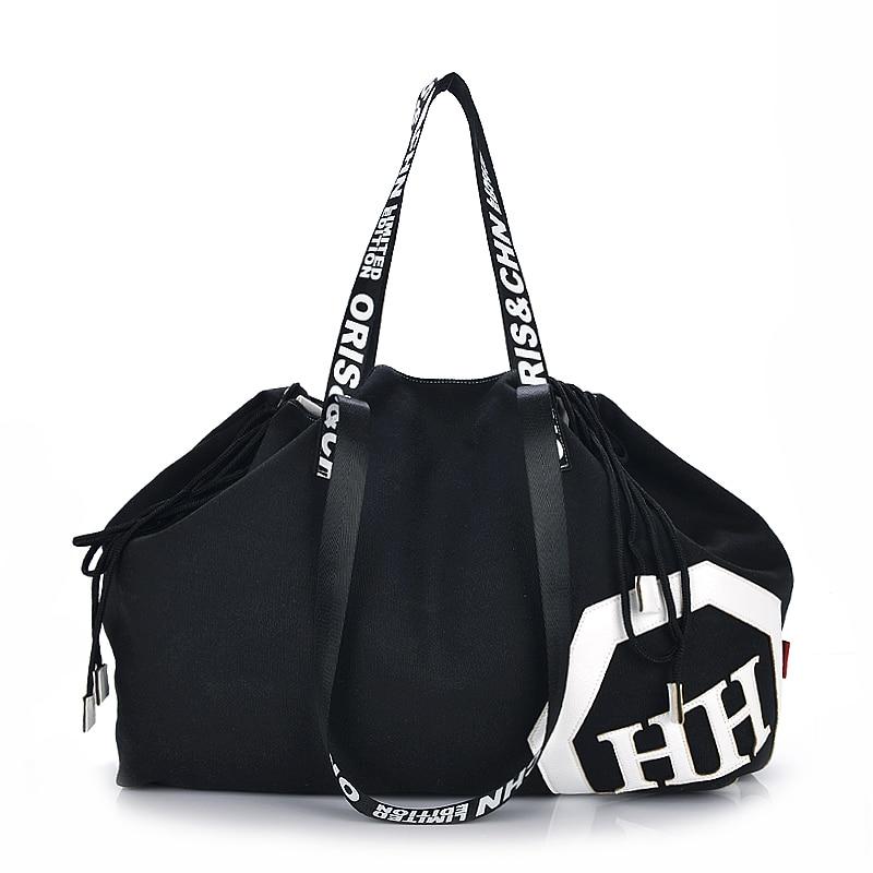 Bolso de viaje de las mujeres de gran capacidad ocasional de la lona bolsa de lona para los años veinte niñas engranajes Totes bolsos de hombro Bolso