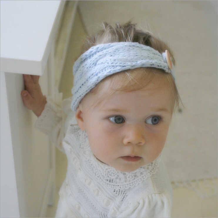 Новый Зимний теплый вязаный крючком тюрбан ободки для волос руководитель группы аксессуары для упаковки для детская одежда для девочек Дети Головные уборы тюрбан повязка