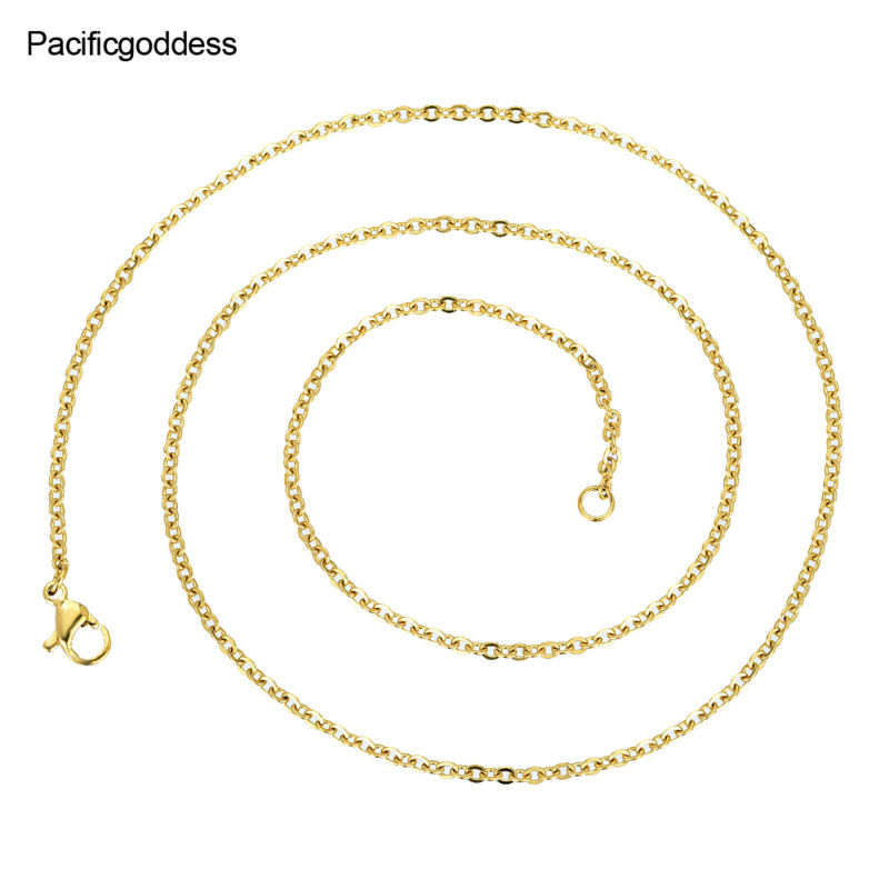 necklaces chains fashion Silver and gold jewelry necklace for women and men chain as gift Ожерелье