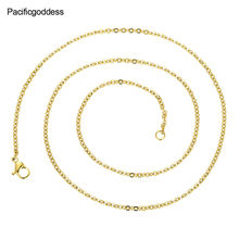 necklaces chains fashion Silver and gold jewelry necklace for women men chain as gift