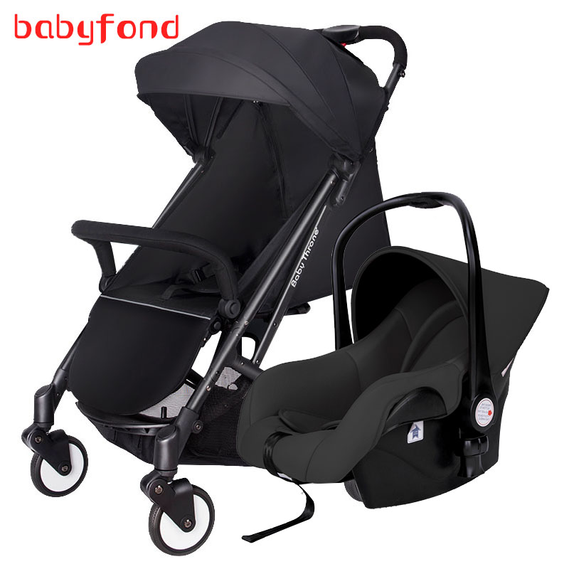Light folding baby stroller light 3 in 1 baby stroller baby carriage boarding stroller travel bb car newborn travel stroller stroller 1 baby