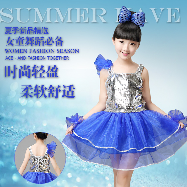 0af754901 children s jazz dance costumes girl sequined dresses drums bitter ...