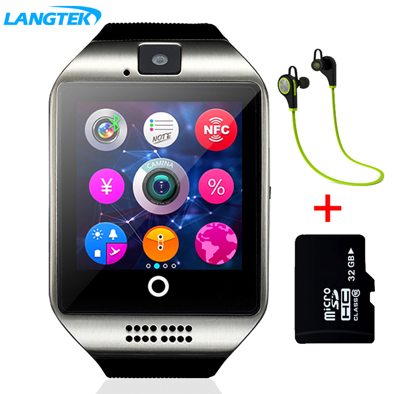 LANGTEK Smart Watch Touch Screen Sync Notifier Support Sim Card Bluetooth Connectivity For IOS Android Phone