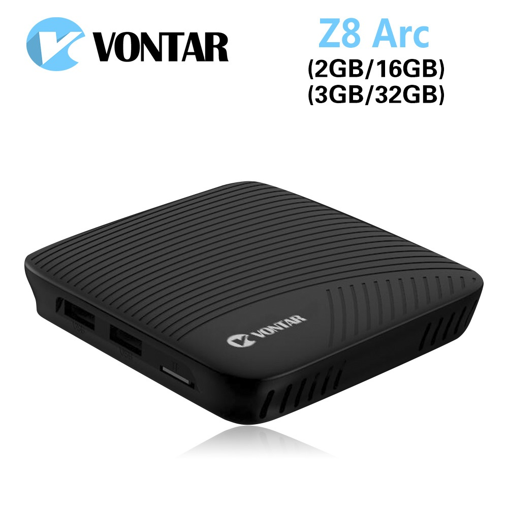 DDR4 Octa Core Android 7.1 Kotak TV VONTAR Z8 Arc 3GB 32GB Amlogic S912 2.4G & 5GHz Dual Wifi BT Google Play Set Top Box