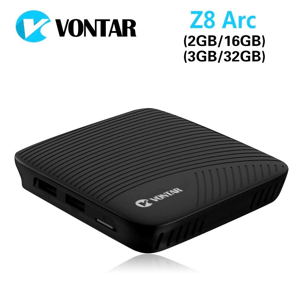 VONTAR Z8 Arc 3 gb gb DDR4 32 VP9 4 k CAIXA de TV Android 7.1 Caixa de TV Inteligente Amlogic Octa núcleo 2.4g/BT4.1 5 ghz WI-FI Set top box