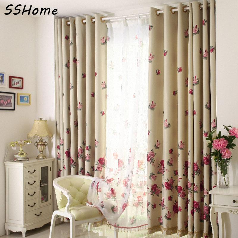Full shade cloth curtain rustic crystal crystal rose - Cortinas de salon modernas ...