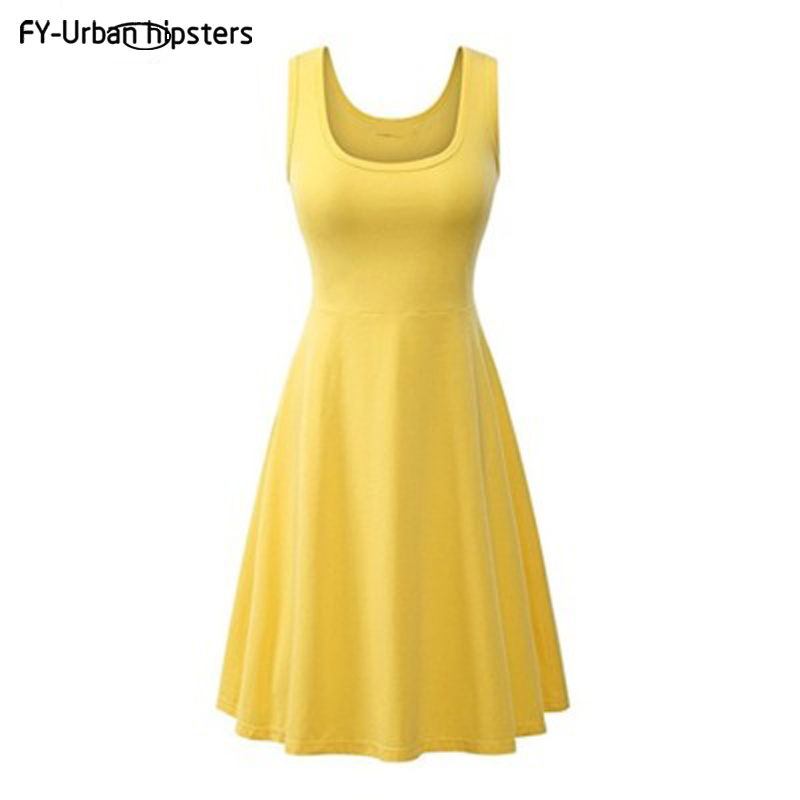Symbol Of The Brand 2018 Cool Dresses Summer Multiple Colour Women Big Size Sexy A-line Vest Dress Comfortable Candy Colors Casual Home Dresses Reasonable Price Women's Clothing