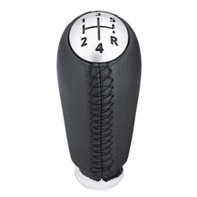 Car Manual 5 Speed Gear Shift Knob Stick Head Hand Ball For RENAULT Laguna Megane 2 Clio 3 2003-2009 Kangoo 2009 PU Leather