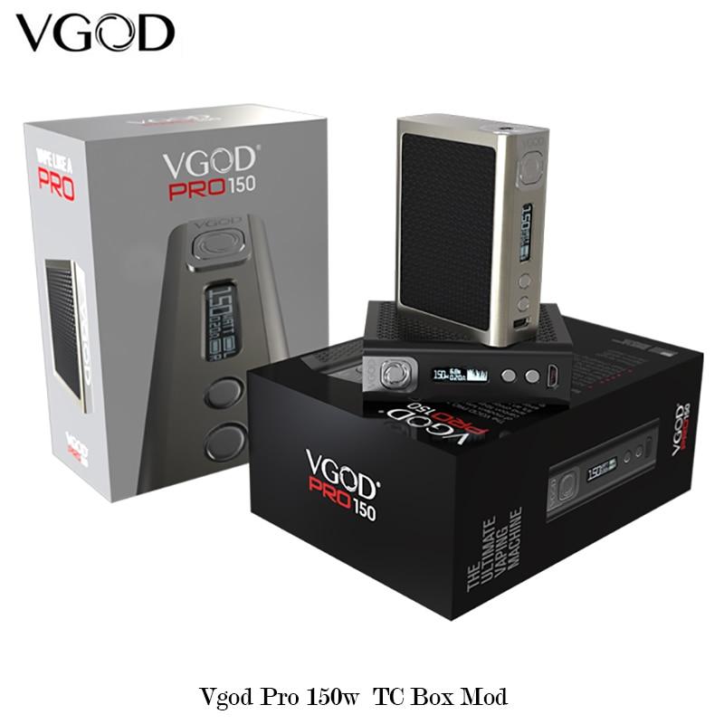 Original VGOD Pro 150 Mod PRO 150w Box Mod sub ohm RDA RDTA Tank carbon fiber plates Vape Electronic Cigarettes Mod