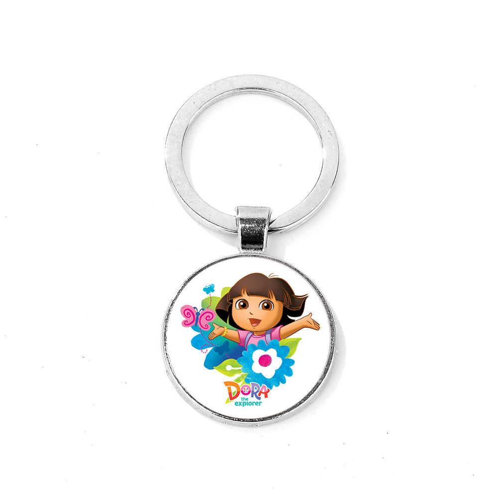 SIAN Moda Tema Keychain Bonito Menina Dos Desenhos Animados Dora The Explorer Dora Chaveiro Charme Saco Ornamento Anel Chave Titular llavero