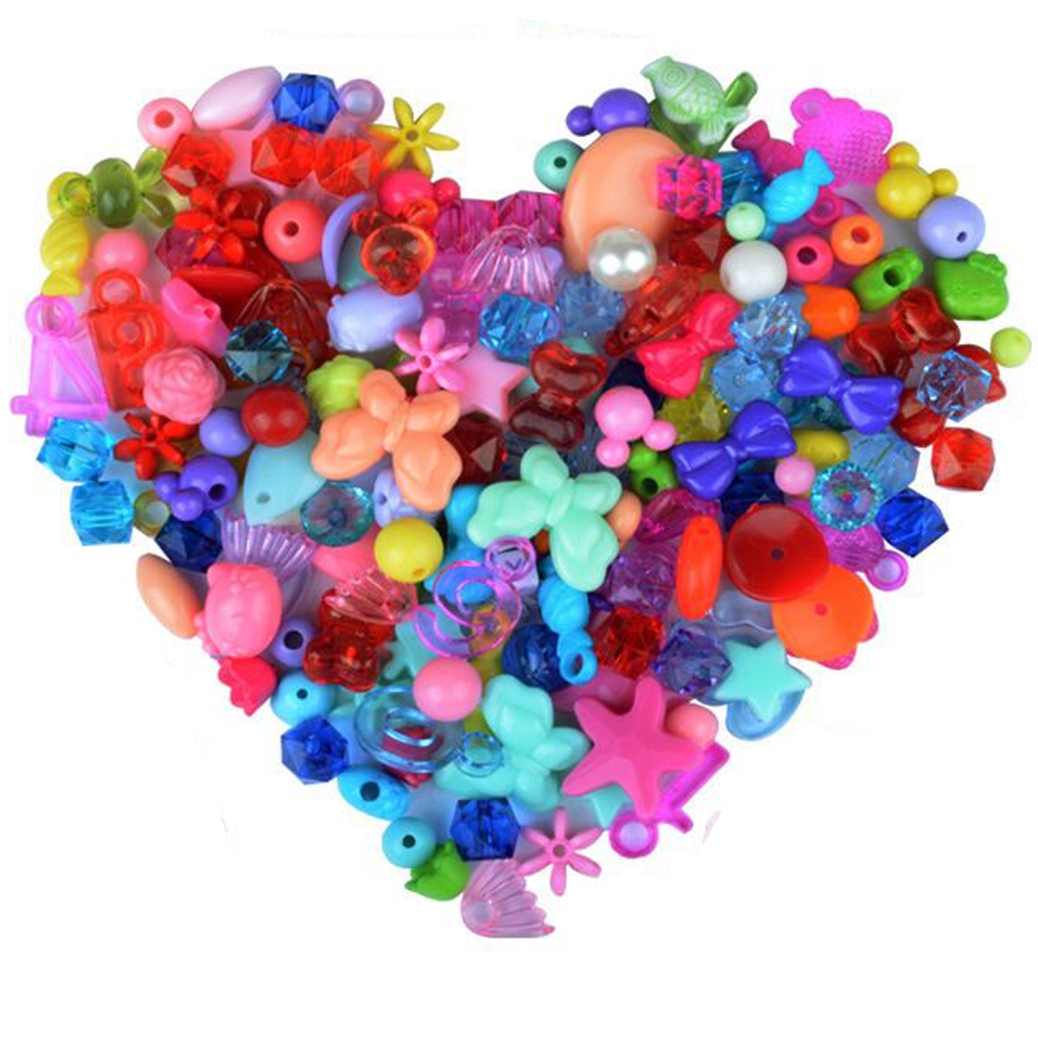 24 Grids Colorful Acrylic Beads With Stringing Threads Hair Hoop DIY Tools Set Handmade Woven Bracelet Children Educational Toys