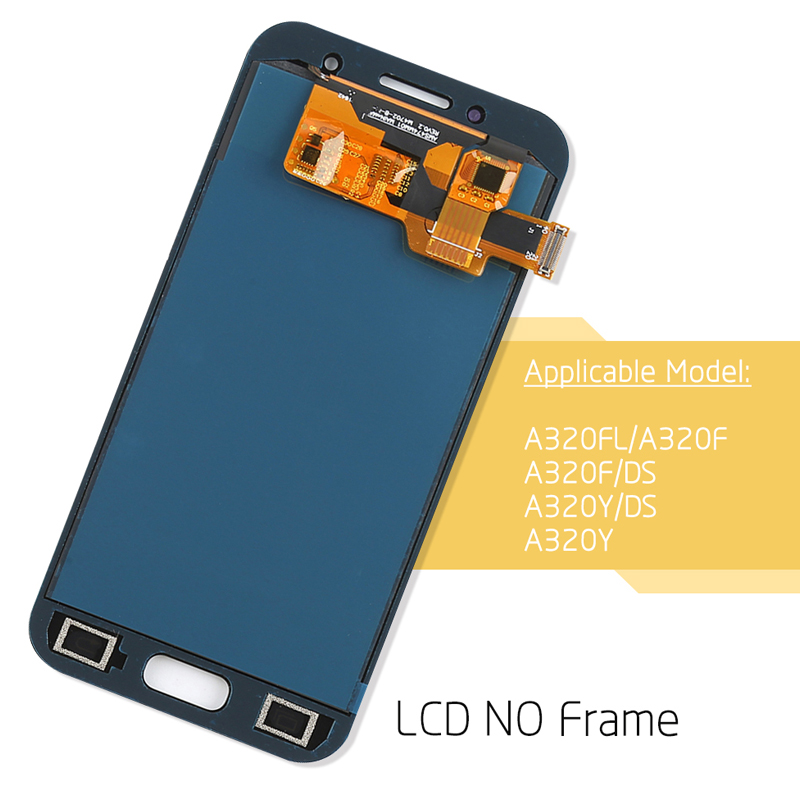 TFT-Srjtek-A320F-LCD-For-Samsung-A3-2017-LCD-A3-Display-Touch-Digitizer-Sensor-Frame-For