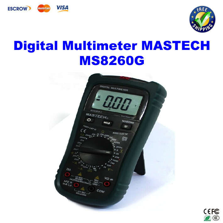 цены  MASTECH MS8260G Auto Range Digital Multimeter ohm voltage and current Capacitance Frequency Temperature Meter with NCV