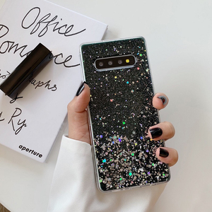 Image 5 - YHBBCASES For Samsung Galaxy S11 Plus S10 S9 Glitter Colorful Sequins Clear Soft Cover For Samsung Note 10 8 9 Silver Foil Cases
