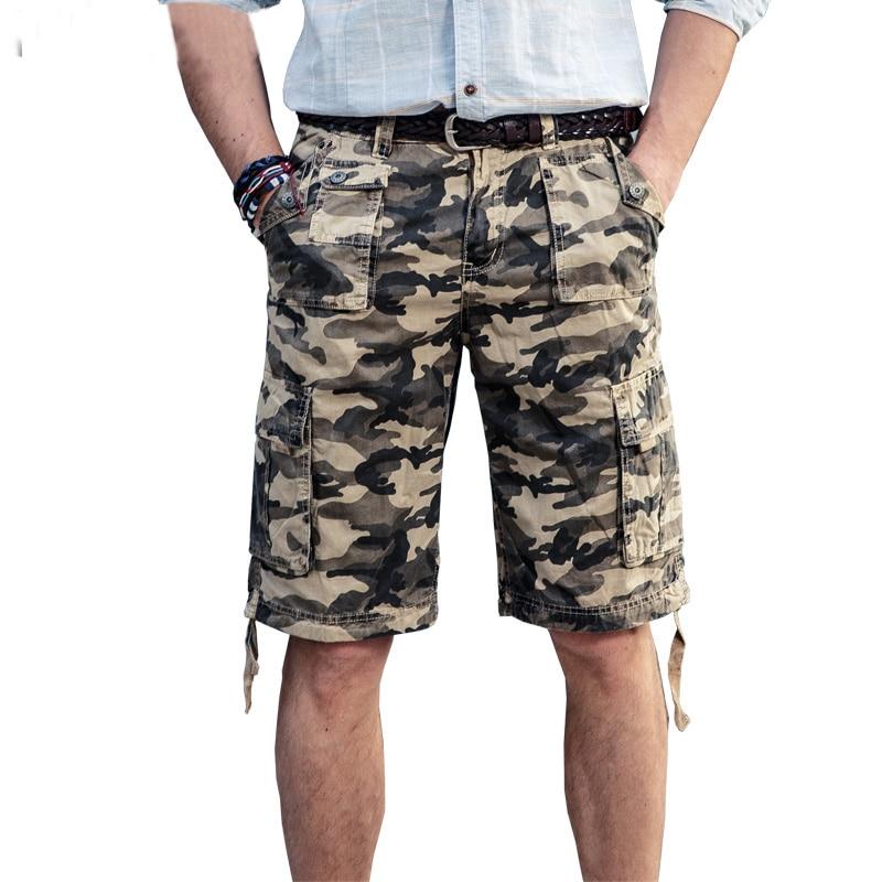Drop Shipping Neuheiten Camouflage Männer Cargo Shorts Baumwolle - Herrenbekleidung