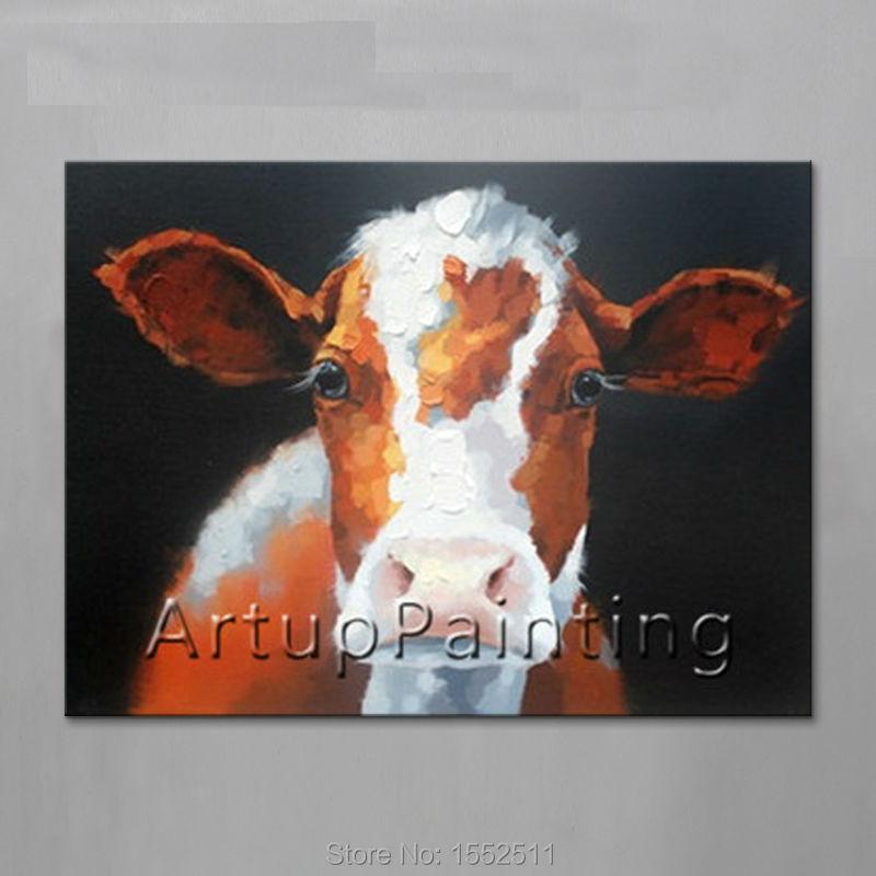 Moderní abstraktní olejomalby na plátně pro žirafy pop art ruční malování zvířat pop art domácnost ozdoba obrázek 10