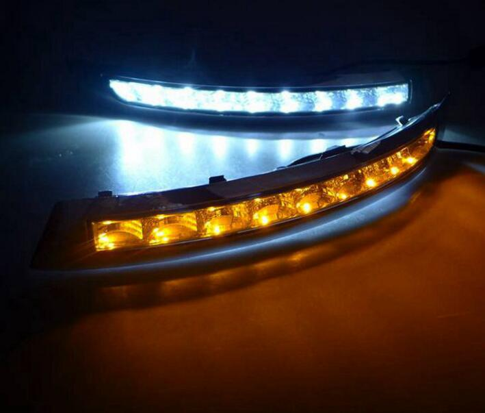Car Stlying 12V LED Daytime Running Light DRL Fog Lamp Decoration For VOLVO XC90 2007 2008 2009 2010 2011 2012 2013 2014 2PCS daytime running light for vw volkswagen passat b6 2007 2008 2009 2010 2011 led drl fog lamp cover driving light