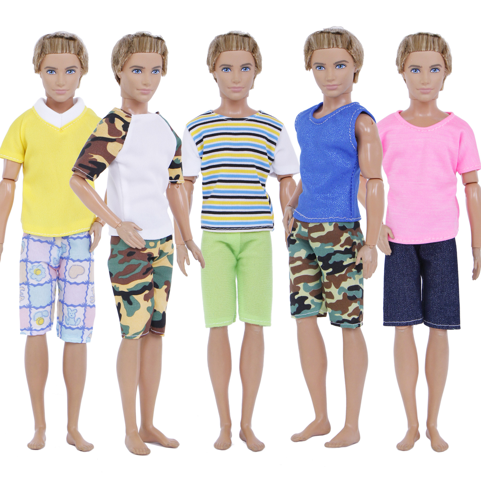 5 Sets Fashion Outfits//Clothes For 12 inch Ken Doll