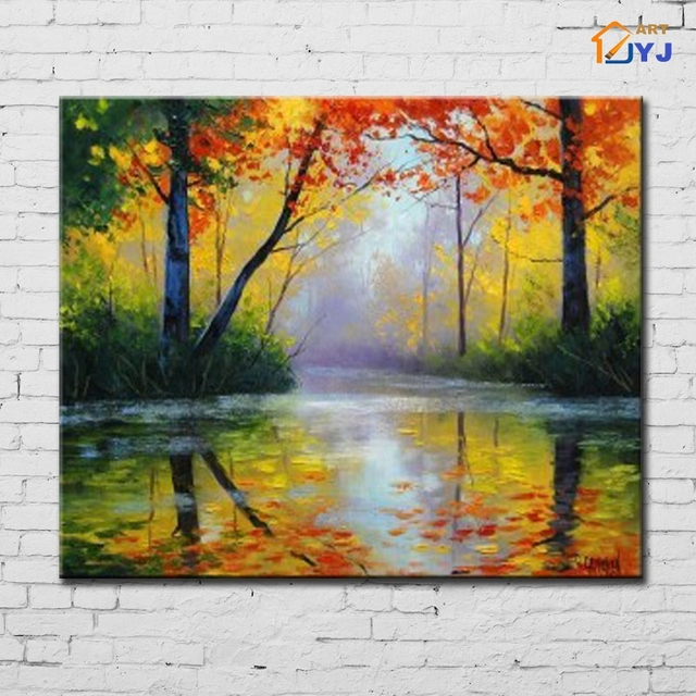 Impression Landscape Canvas Wall Art Hand Painted Modern Abstract Oil  Painting For Living Room Decoration Gift