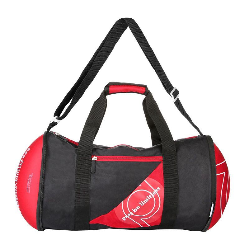 Unisex Football Shape Gym Sport Duffel Bag Travel Vacation Home Outdoor(Red)