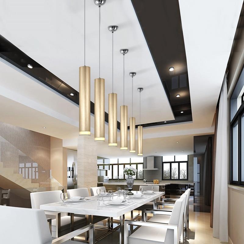Hochwertig LukLoy Pendelleuchte Downlights Küche Insel Esszimmer Wohnzimmer Shop  Dekoration Zylinderrohr Anhänger Bar Zähler Spot Licht