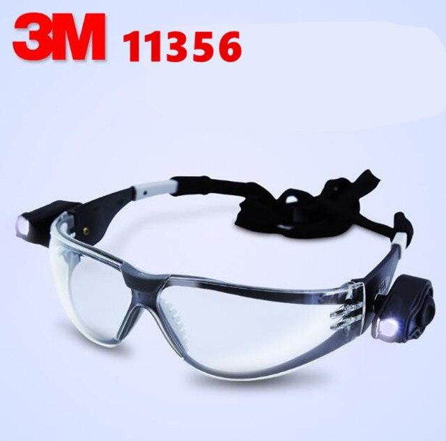 3 M 11356 Veiligheidsbril met Led verlichting Oogbescherming Anti ...